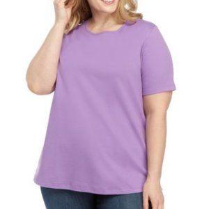 Lilac Short Sleeve Round Neck T-Shirt